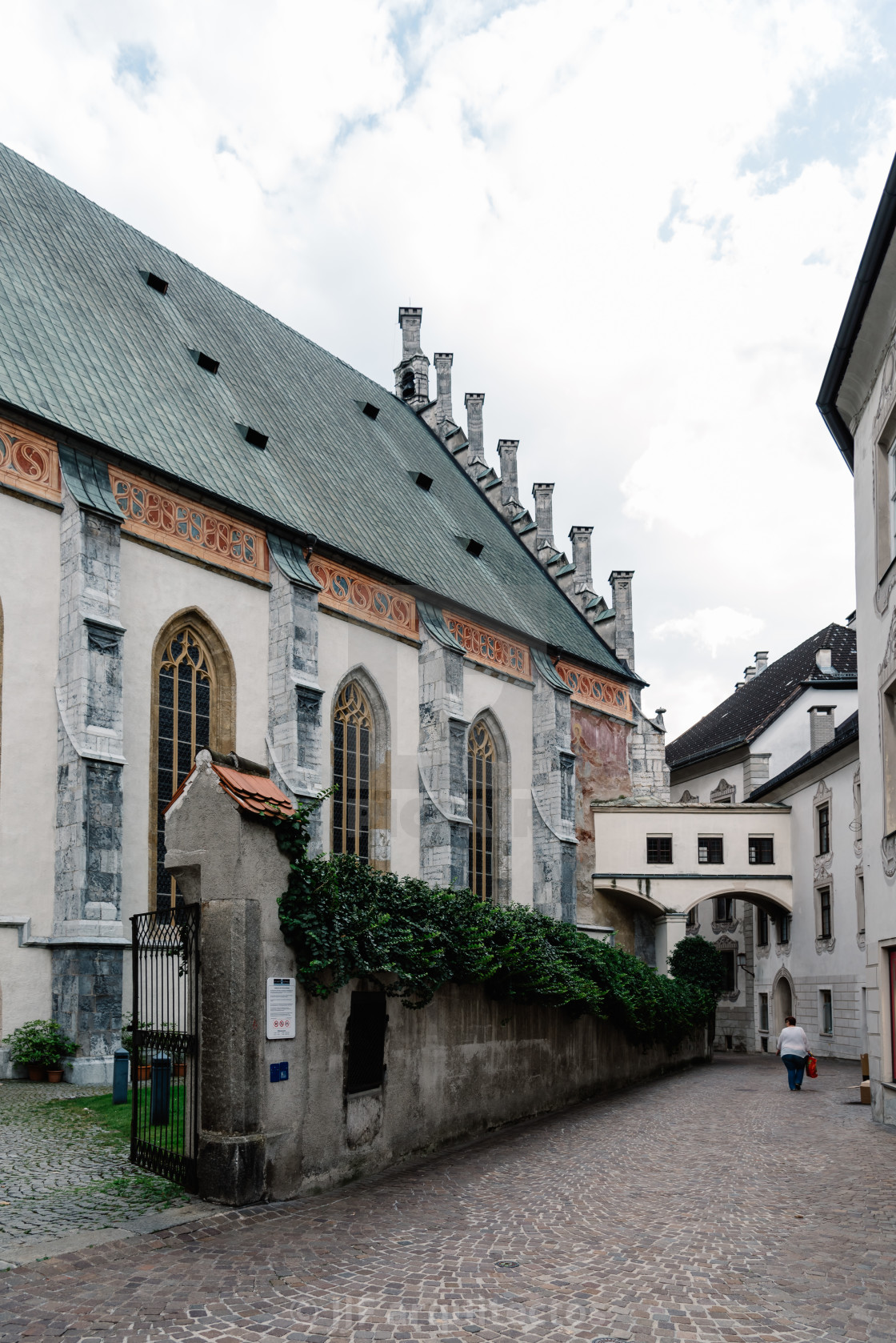 """Church in Schwaz a small town in Tyrol"" stock image"