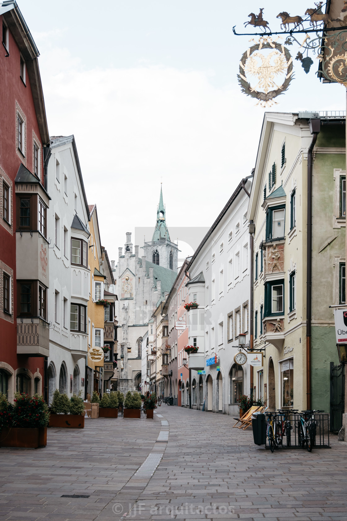 """Schwaz a small town in Tyrol"" stock image"