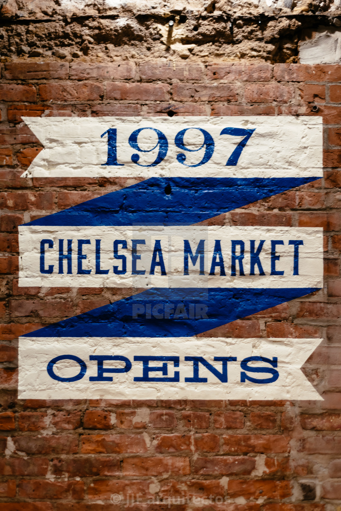 Chelsea Market sign on wall in New York - License, download or print