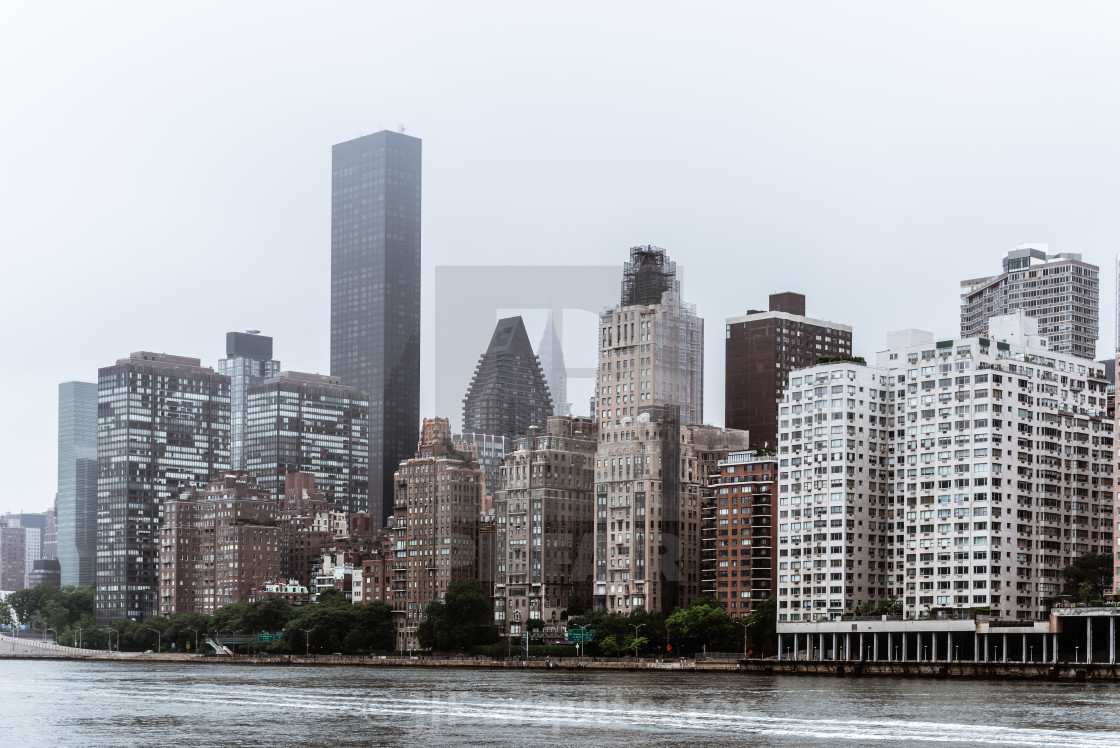 """Skyline of Midtown of New York City"" stock image"