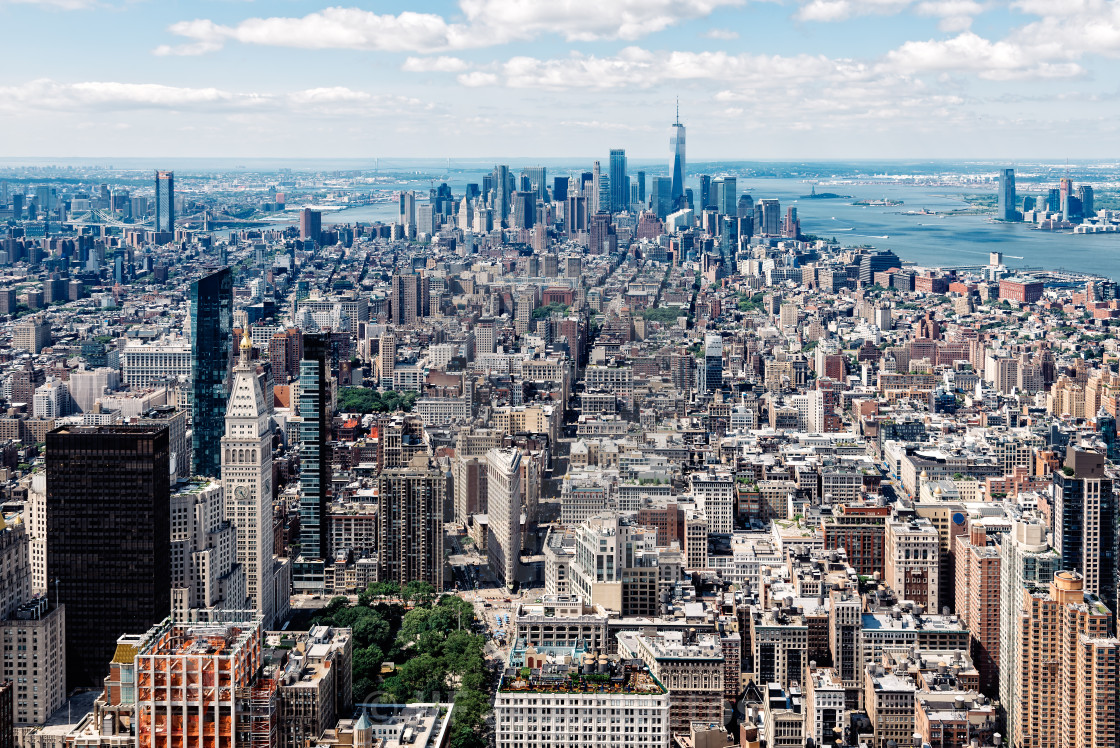 """Aerial view of Manhattan in New York"" stock image"