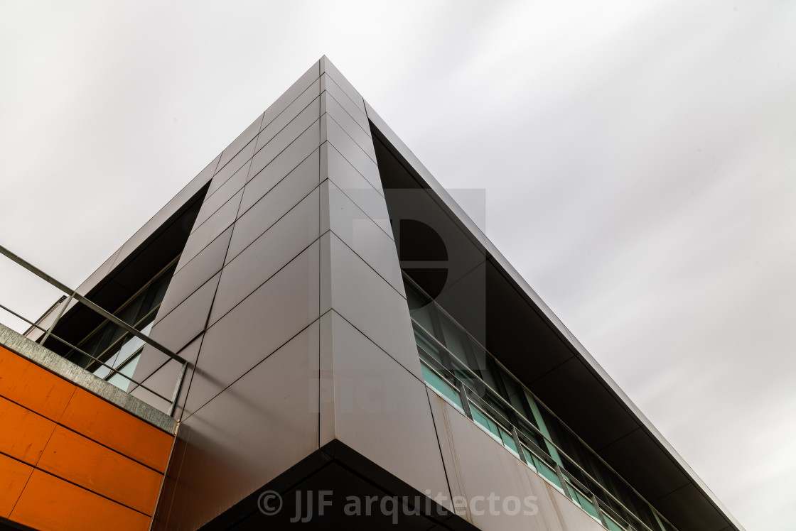 """Modern architecture office building exterior view"" stock image"