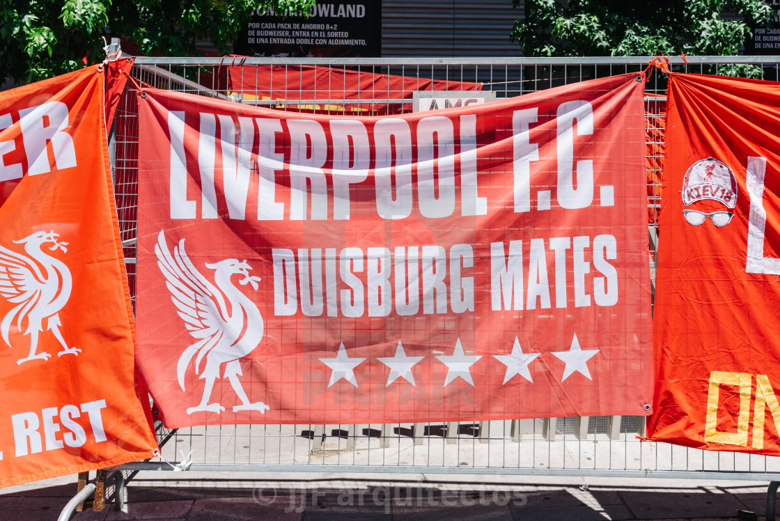 Liverpool fans at the UEFA Champions League Final in Madrid