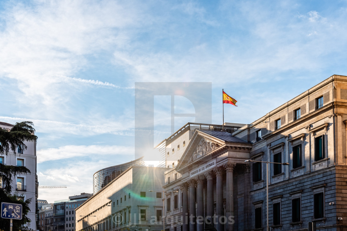 """The Congress of Deputies of Spain in Madrid"" stock image"