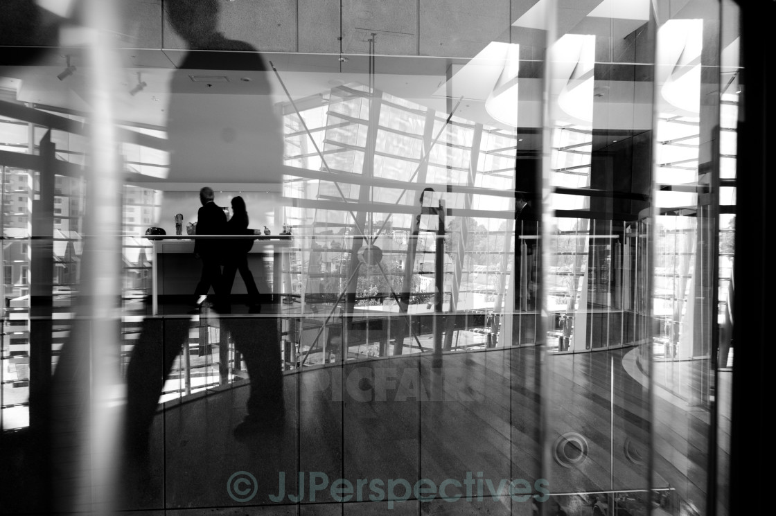 """Urban Reflections"" stock image"