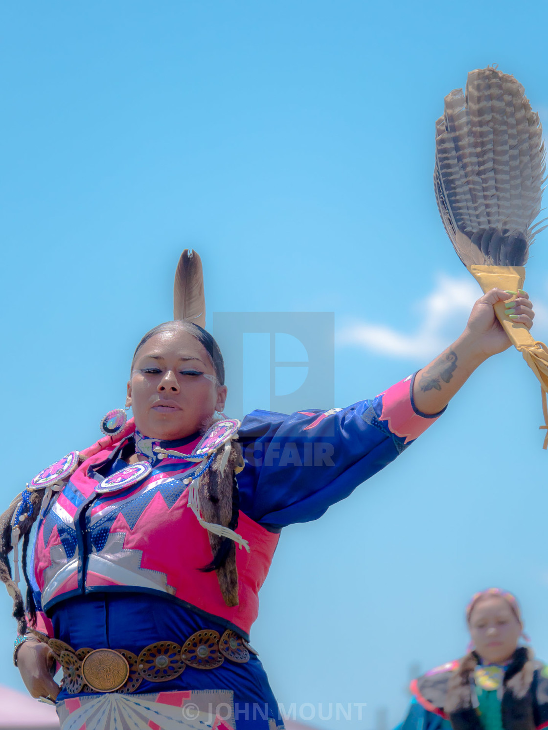 """NATIVE AMERICAN POW WOW"" stock image"