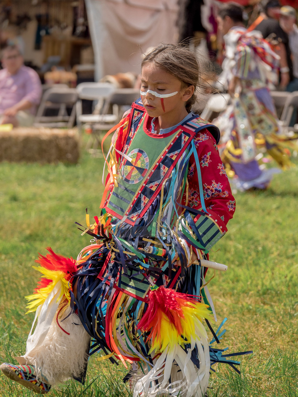 """YOUNG NATIVE AMERICAN GIRL DANCING"" stock image"