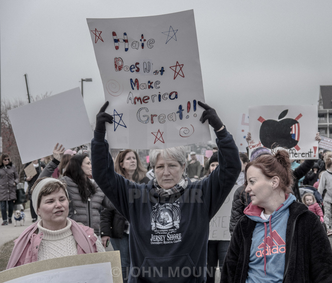 """MILLION WOMAN MARCH, ASBURY PARK NJ"" stock image"