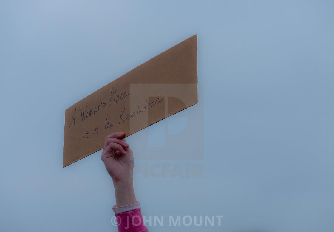 """ASBURY PARK, NJ, MILLION WOMAN MARCH"" stock image"