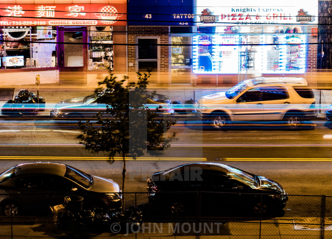 """""""NIGHT TIME IN THE CITY"""" stock image"""