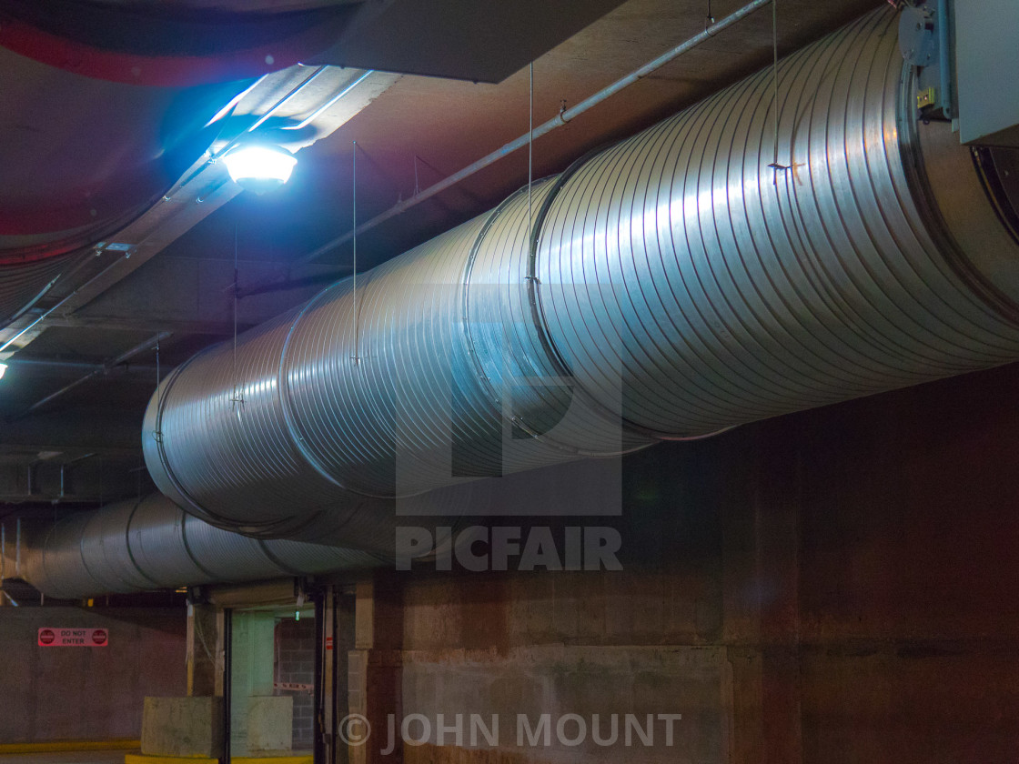 """""""INDUSTRIAL SIZE PIPE / AIR DUCT"""" stock image"""