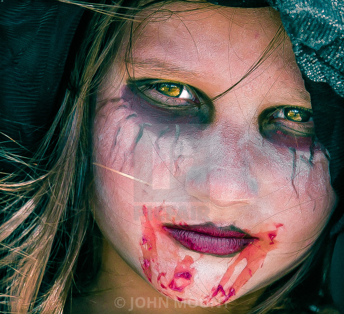 """YOUNG GIRL ZOMBIE"" stock image"