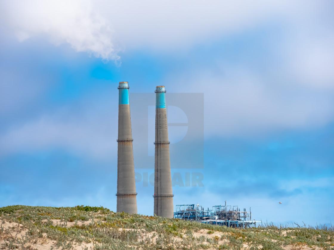 """""""Duke Energy plant at Moss Landing, California"""" stock image"""