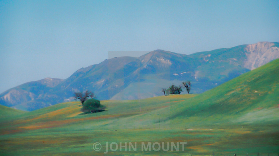 """""""Mountains, land and sky in Monterey County CA"""" stock image"""