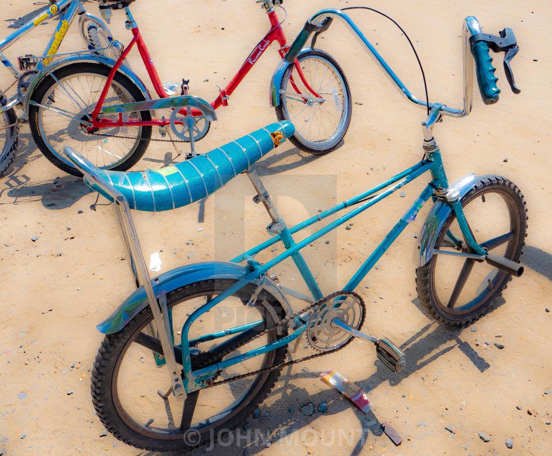 """""""Vintage Kids Bikes - Banana Seat"""" stock image"""
