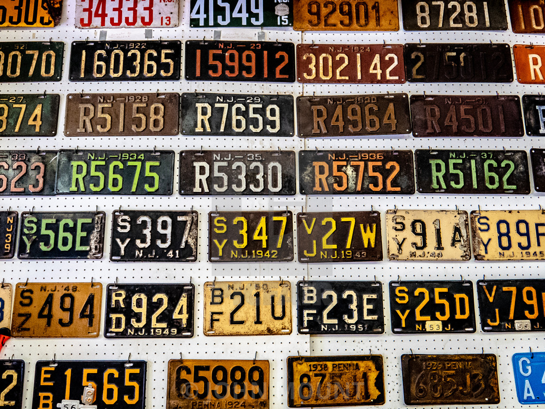 Vintage New Jersey License Plate Display License Download Or Print For 20 00 Photos Picfair