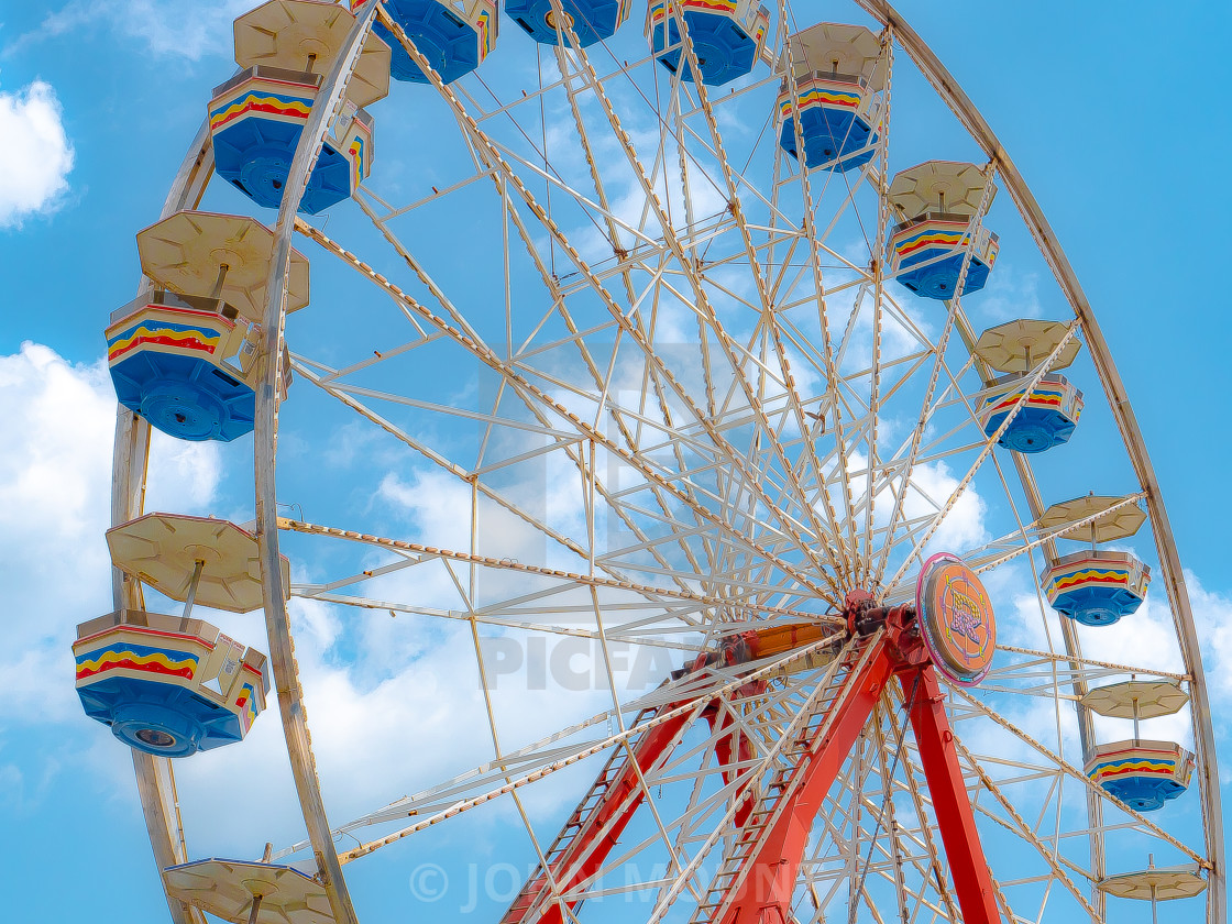 """""""Ferris Wheel at the County Fair"""" stock image"""