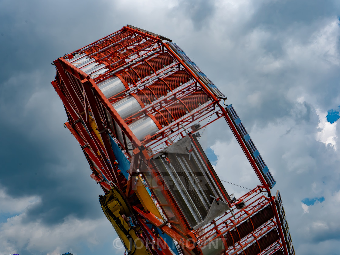 """""""Carnival Ride at the County Fair"""" stock image"""
