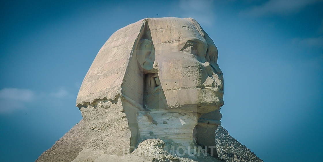 """The Sphinx at the Giza Pyramids"" stock image"