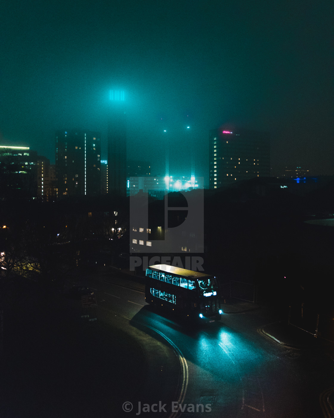 """""""City in the Mist"""" stock image"""