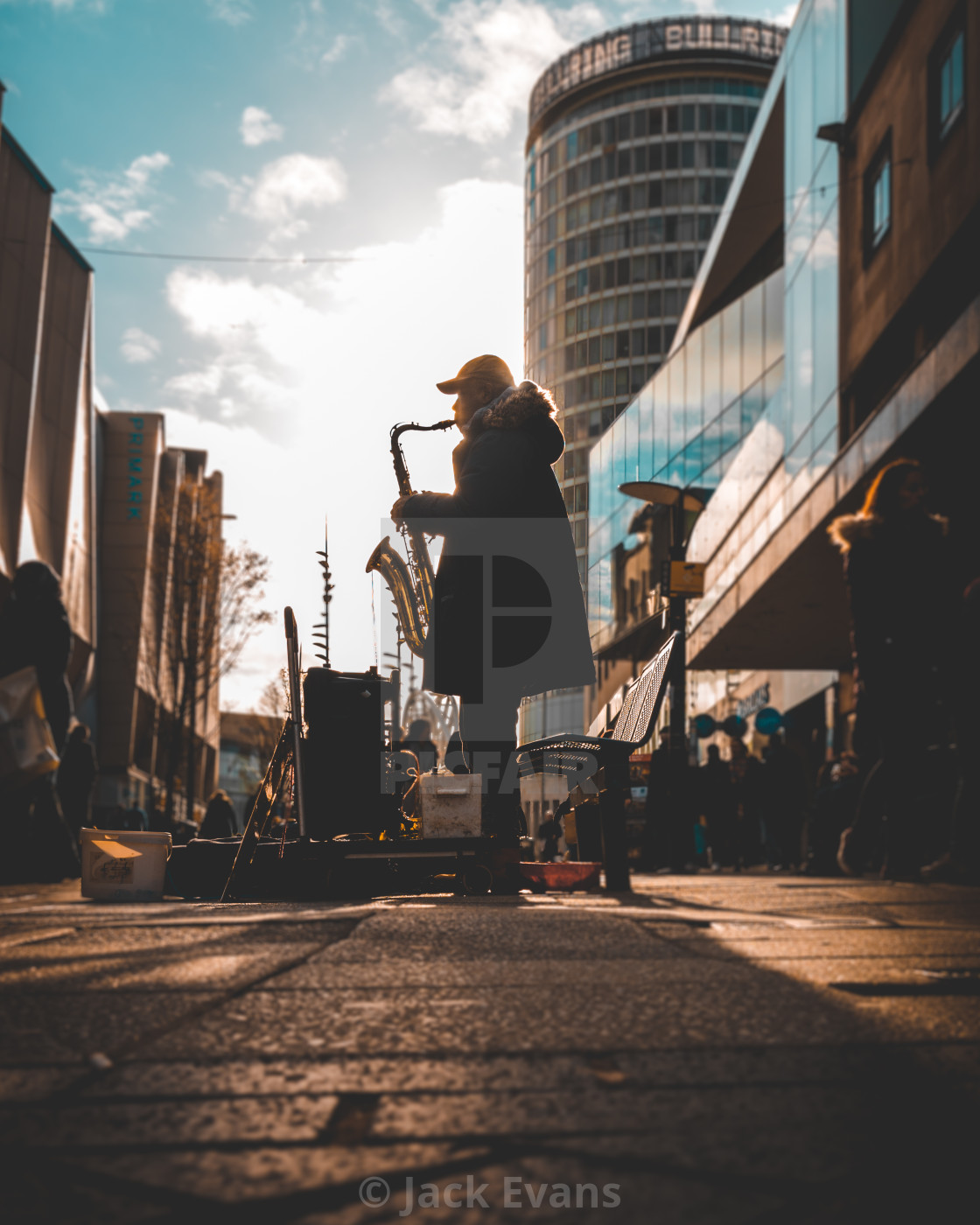 """""""Saxophone on the Streets"""" stock image"""