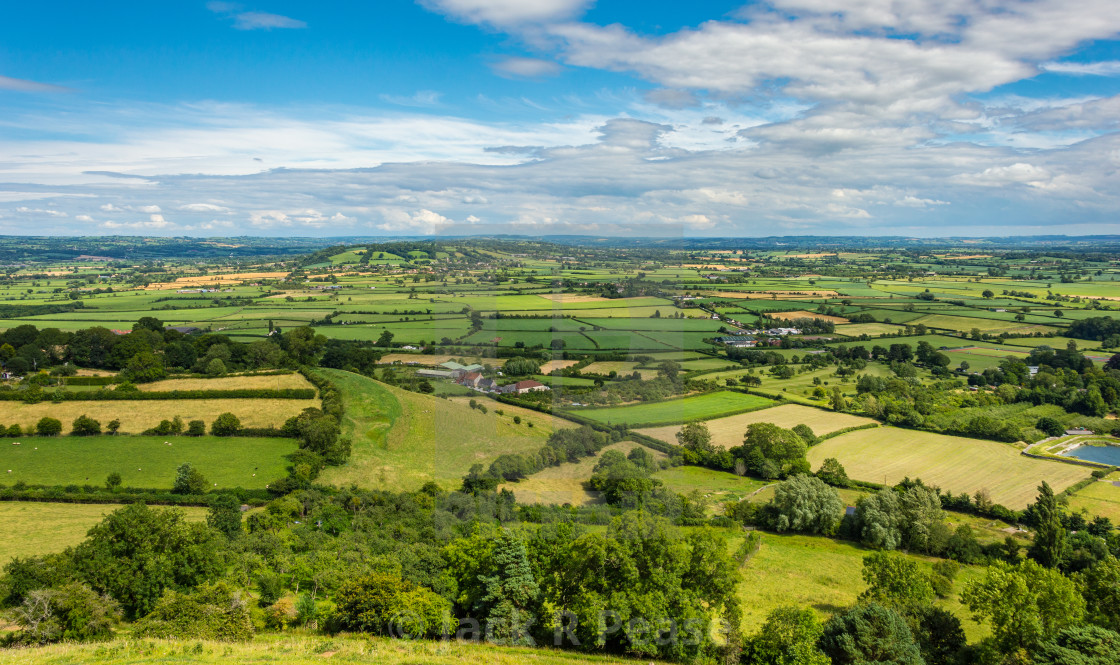 """""""Mendip Hills and Somerset Levels"""" stock image"""