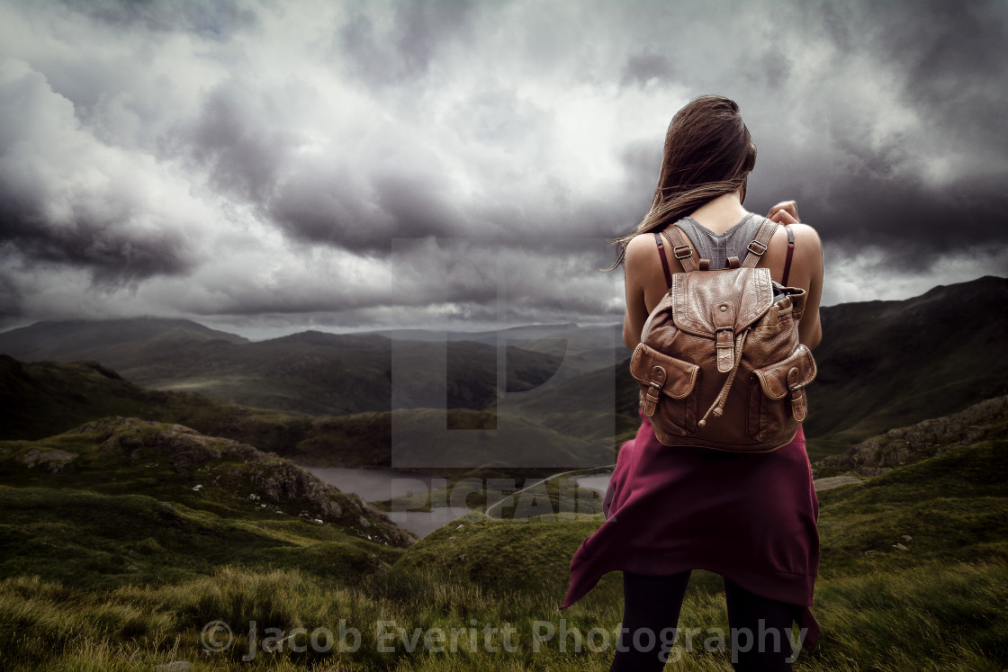 """The Moody Mountains"" stock image"