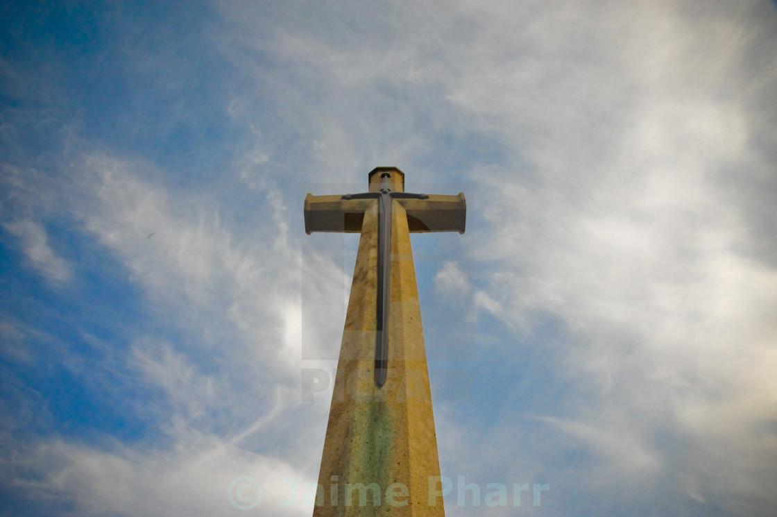 """Maricourt cross"" stock image"