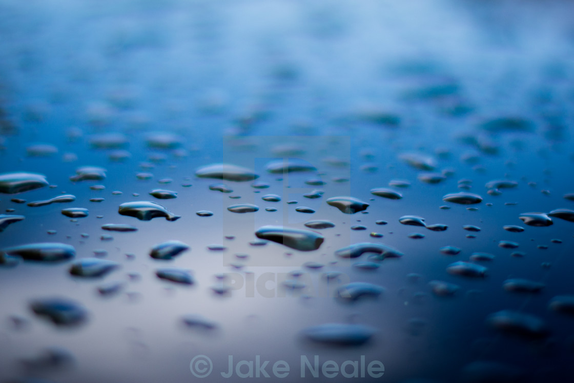 """Raindrops On Steel"" stock image"