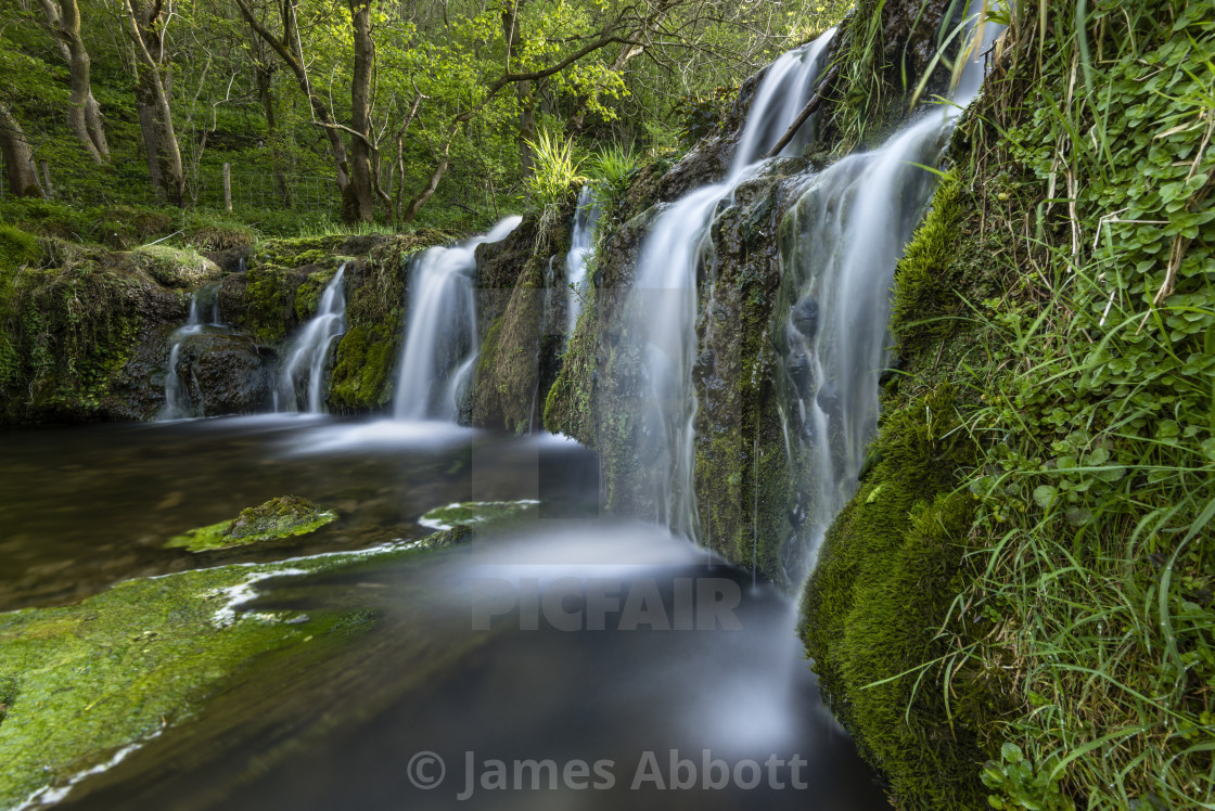"""Lathkill Waterfall"" stock image"