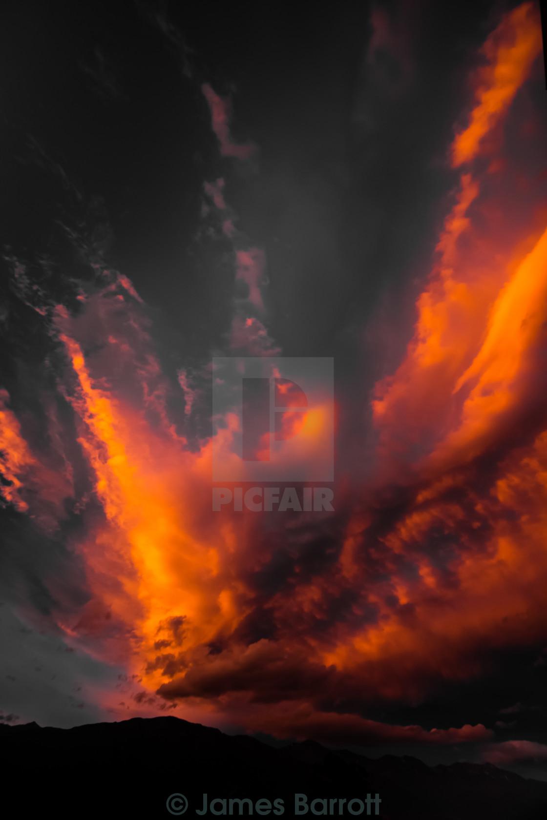 """""""Kaikoura Sunset"""" stock image"""