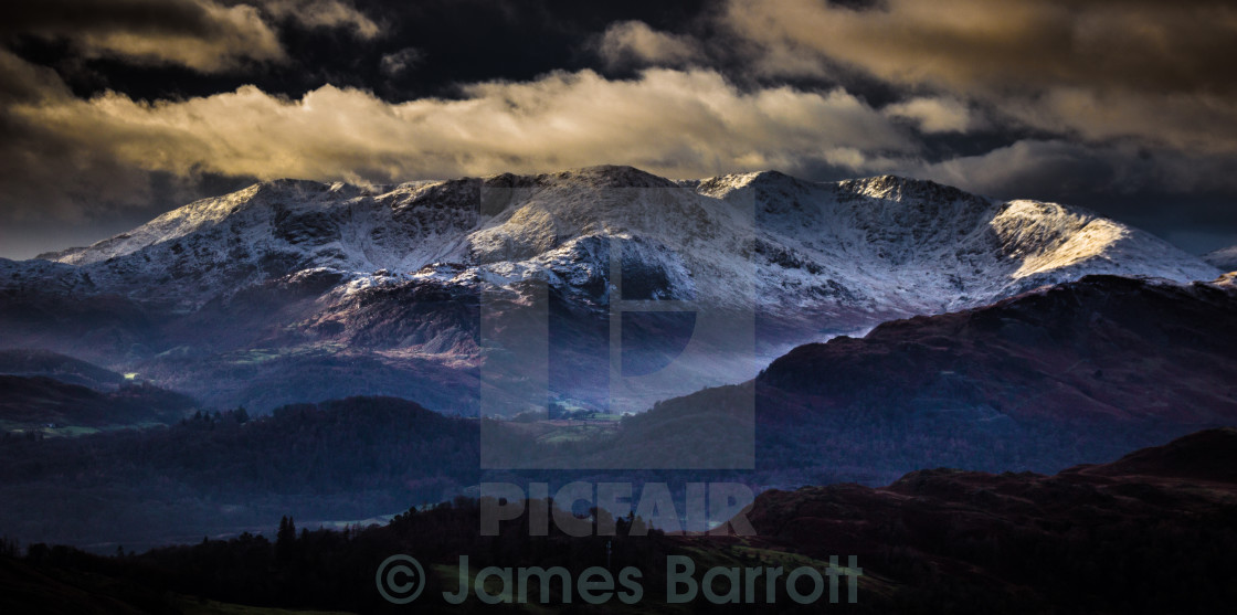 """The Scafell Range"" stock image"