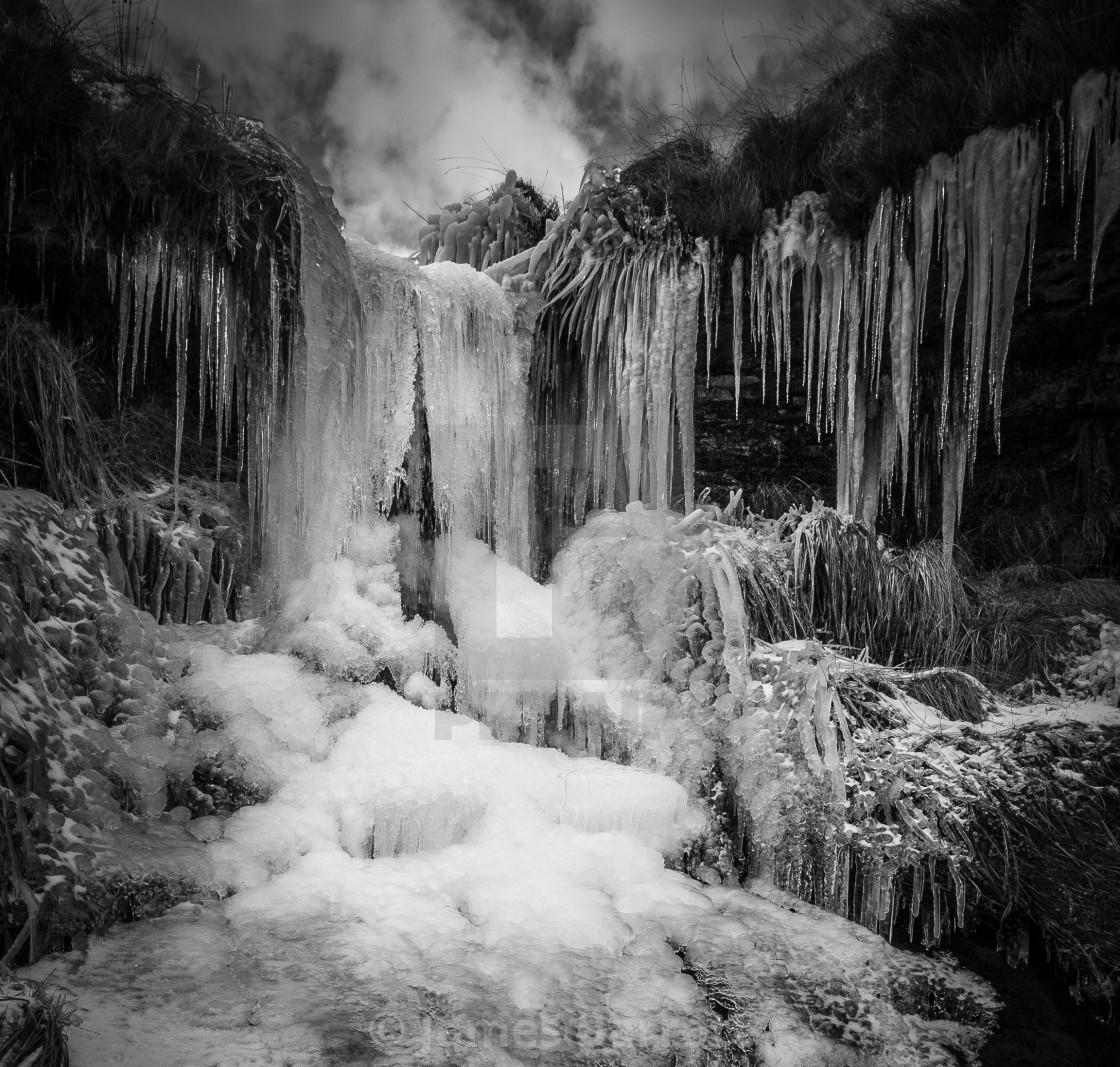 """Frozen Waterfall."" stock image"