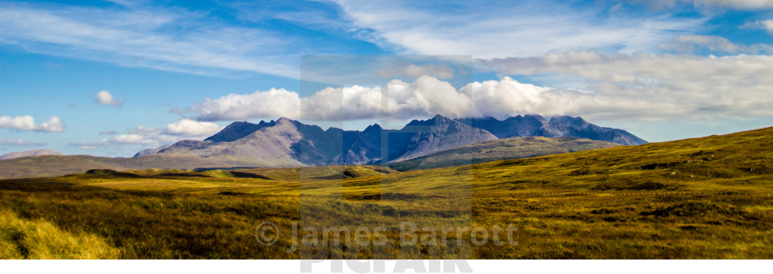 """""""The Cuillin of Skye"""" stock image"""