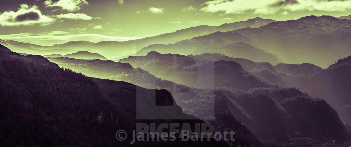 """The central fells of the Lake District."" stock image"