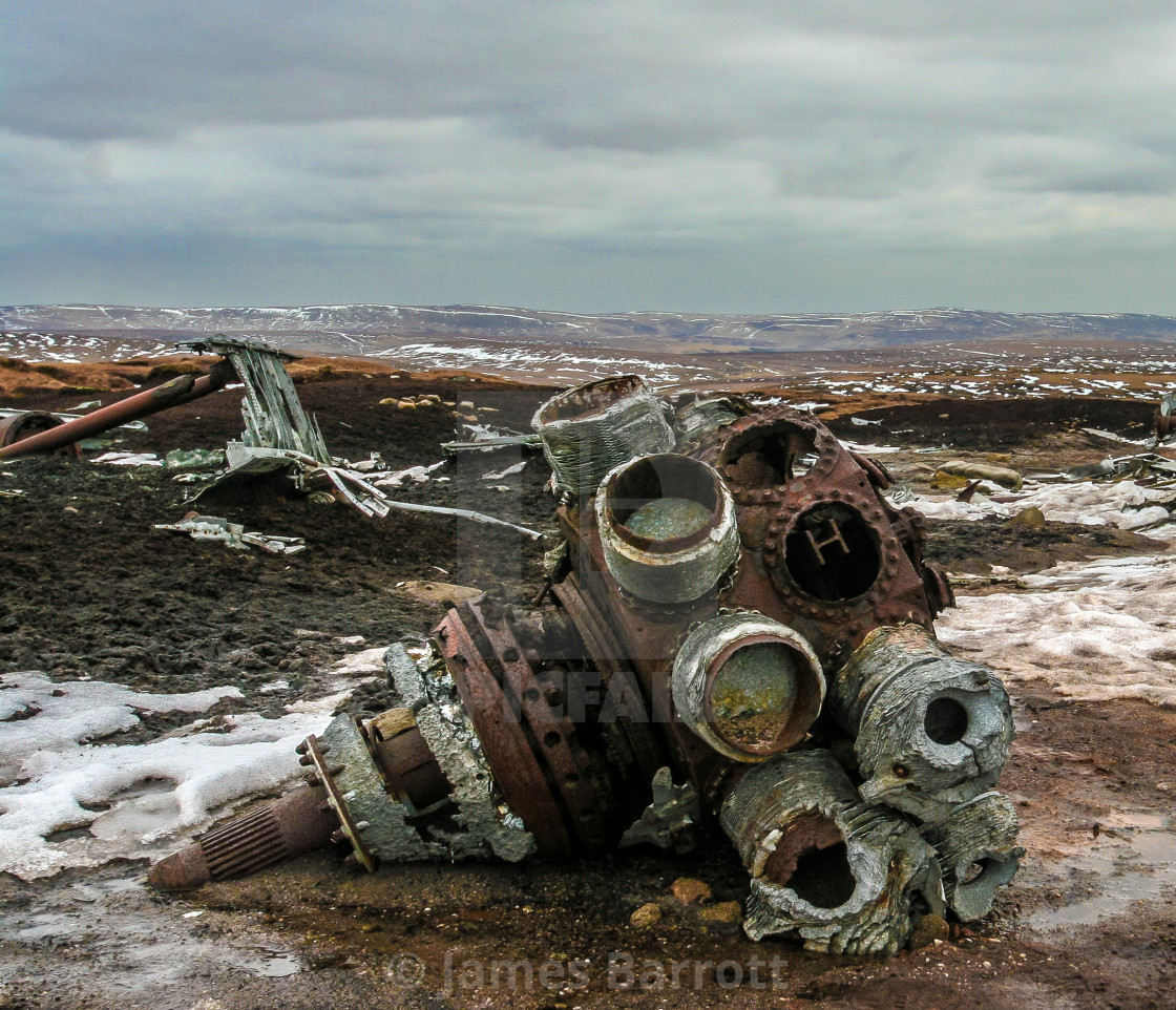 """Aircraft wreck -B29 Superfortress."" stock image"