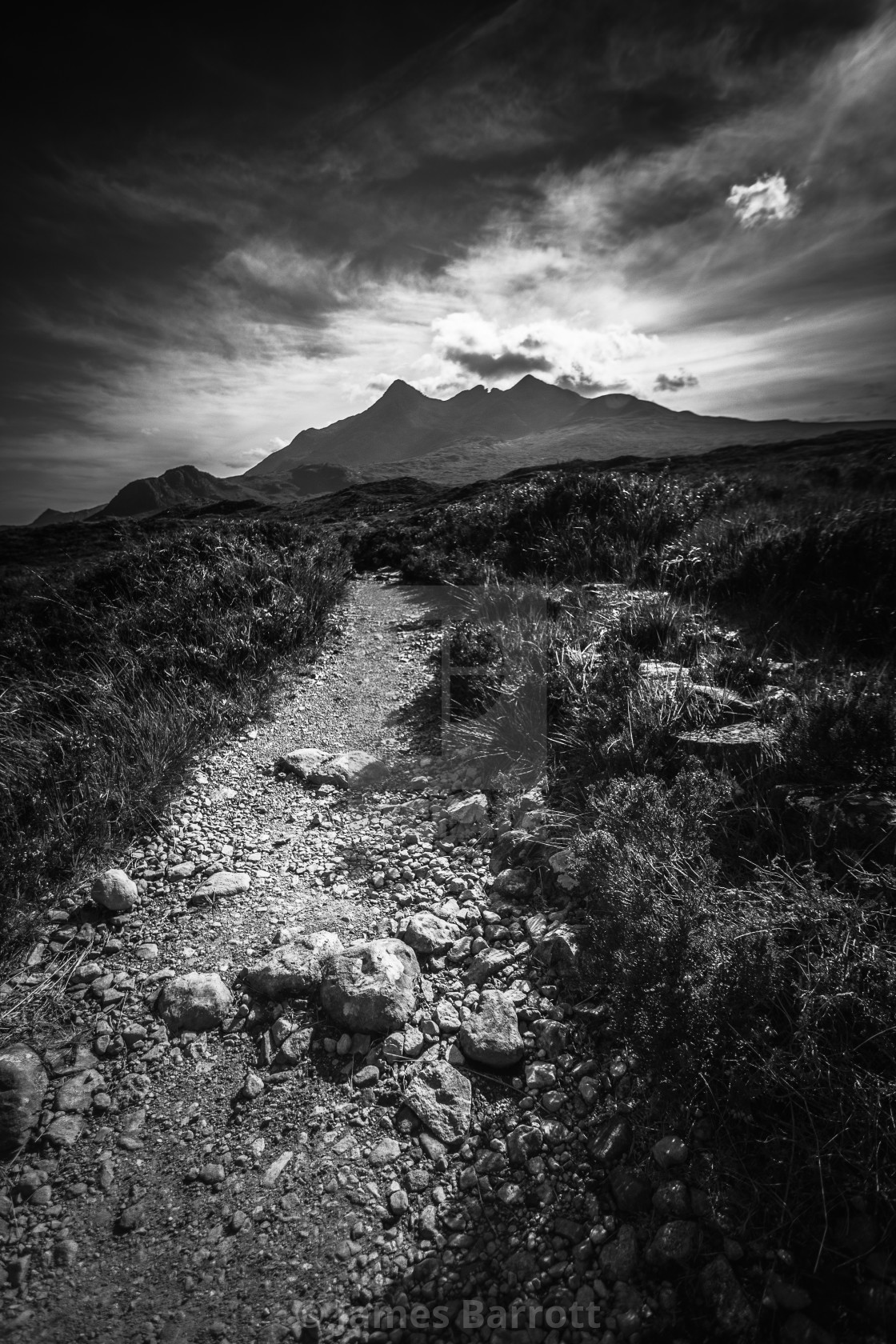 """The Cuillin ,Isle of Skye."" stock image"