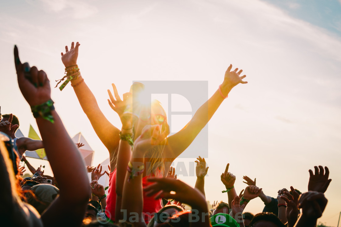 """Global Gathering Crowd"" stock image"