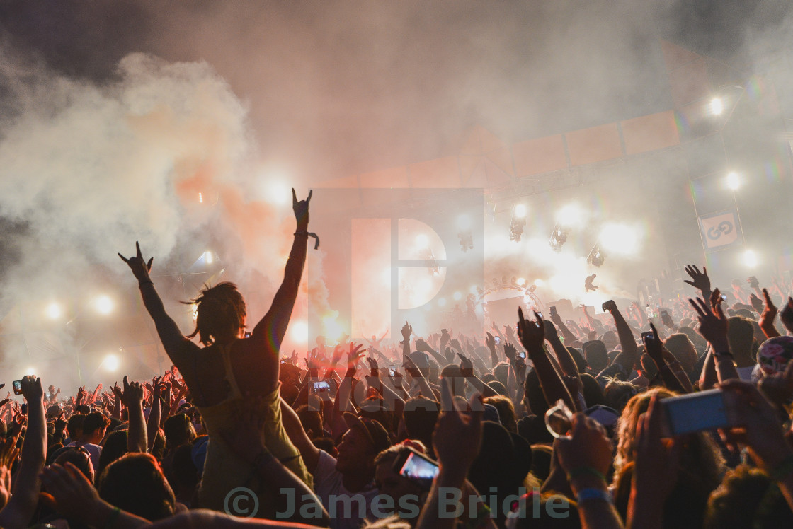 """Prodigy Live, Global Gathering crowd"" stock image"