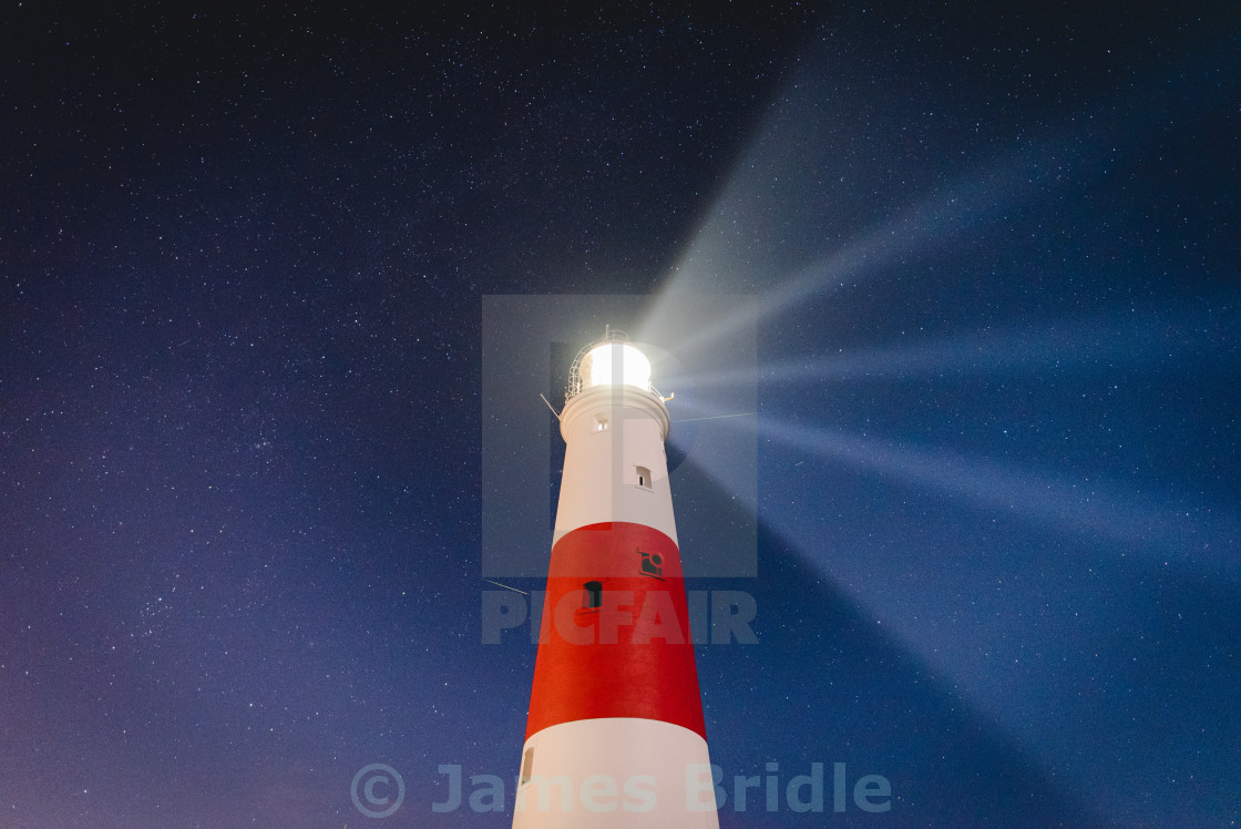 """Portland Bill, Meteor shower 2016"" stock image"