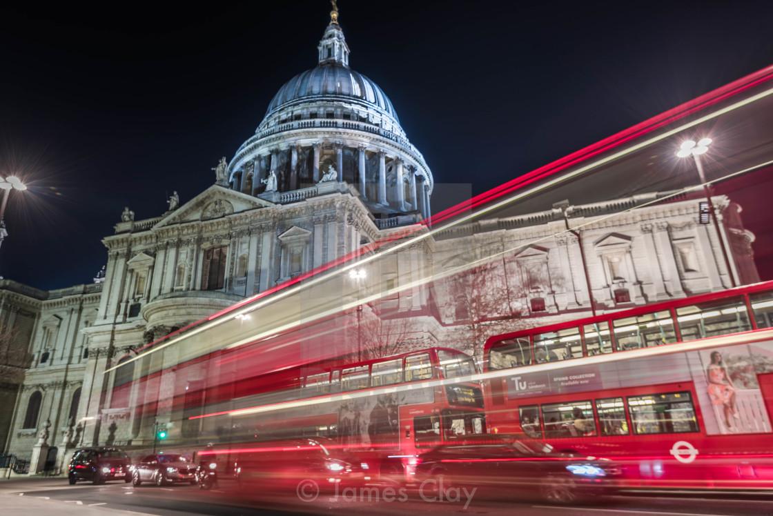 """St Paul's blur"" stock image"