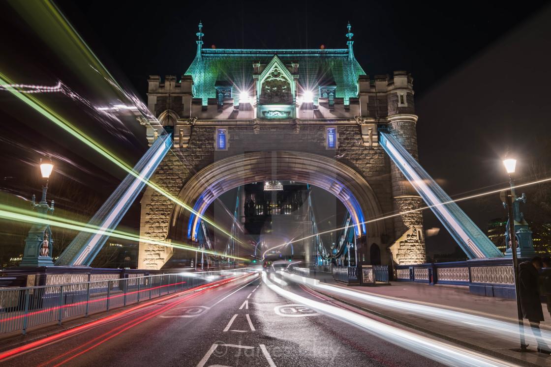 """Tower Bridge Traffic"" stock image"