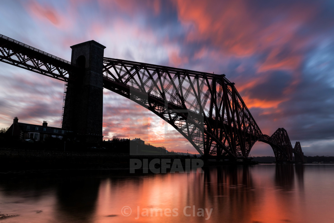 """Sunrise over the Forth."" stock image"