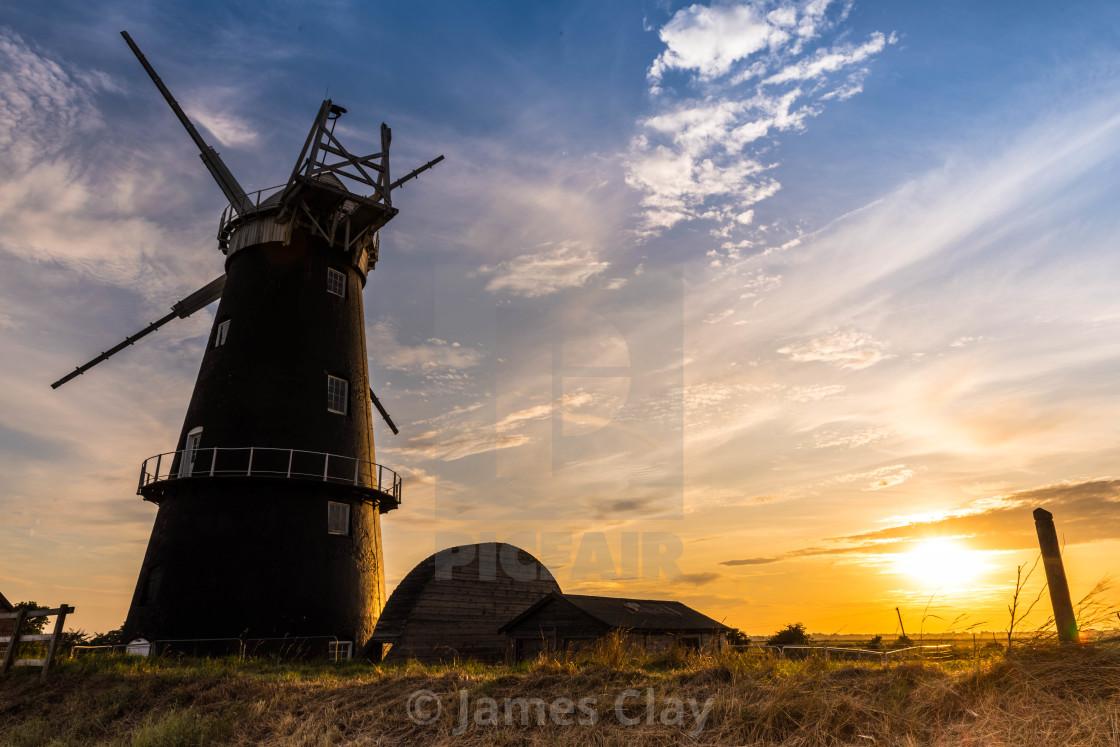 """Mill Sunset"" stock image"