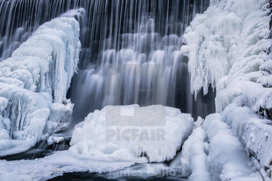 """Frozen falls"" stock image"