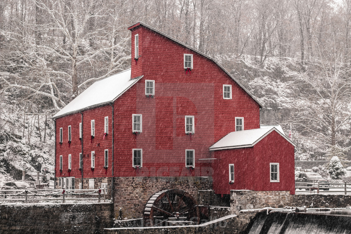 """Winter mill"" stock image"