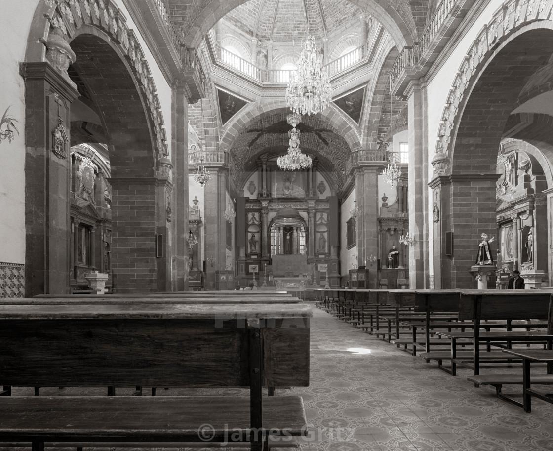 """Church Interior, San Miguel de Allende, Mexico"" stock image"