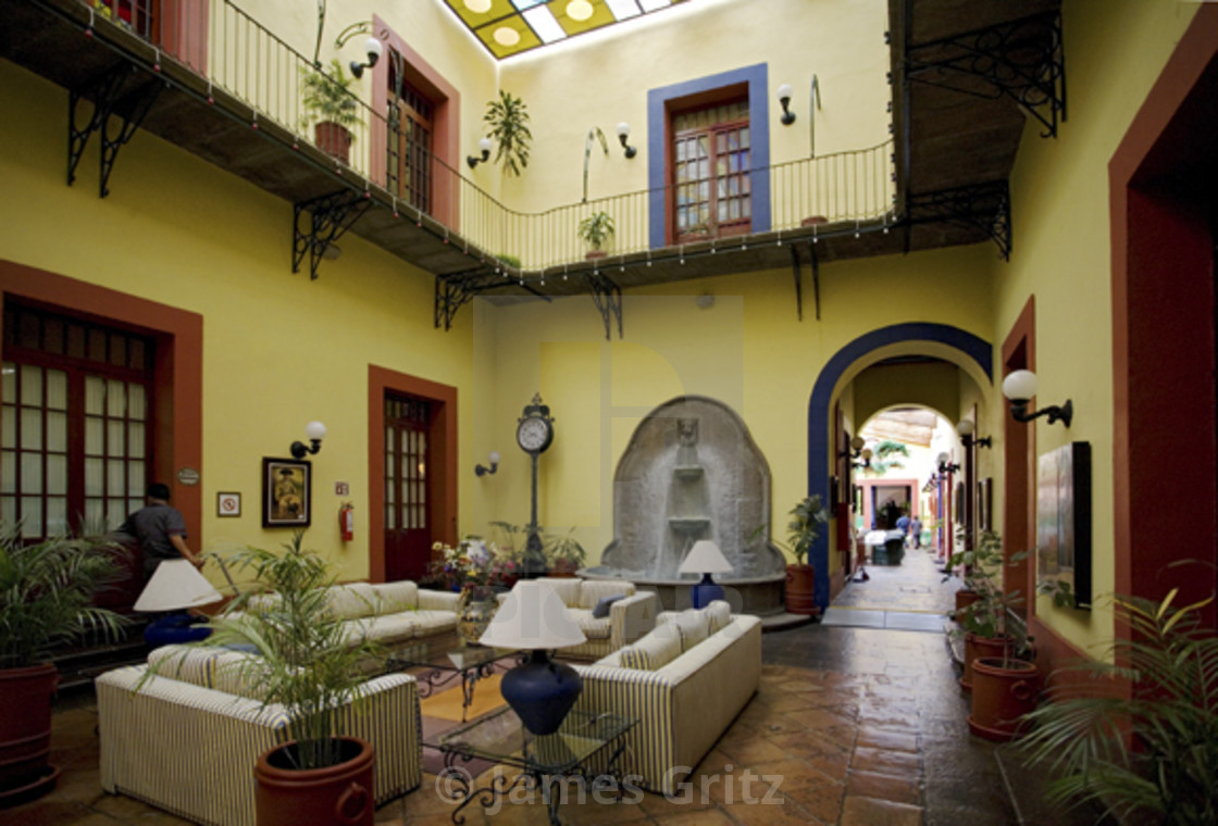 """""""Interior of Mexican Hotel"""" stock image"""