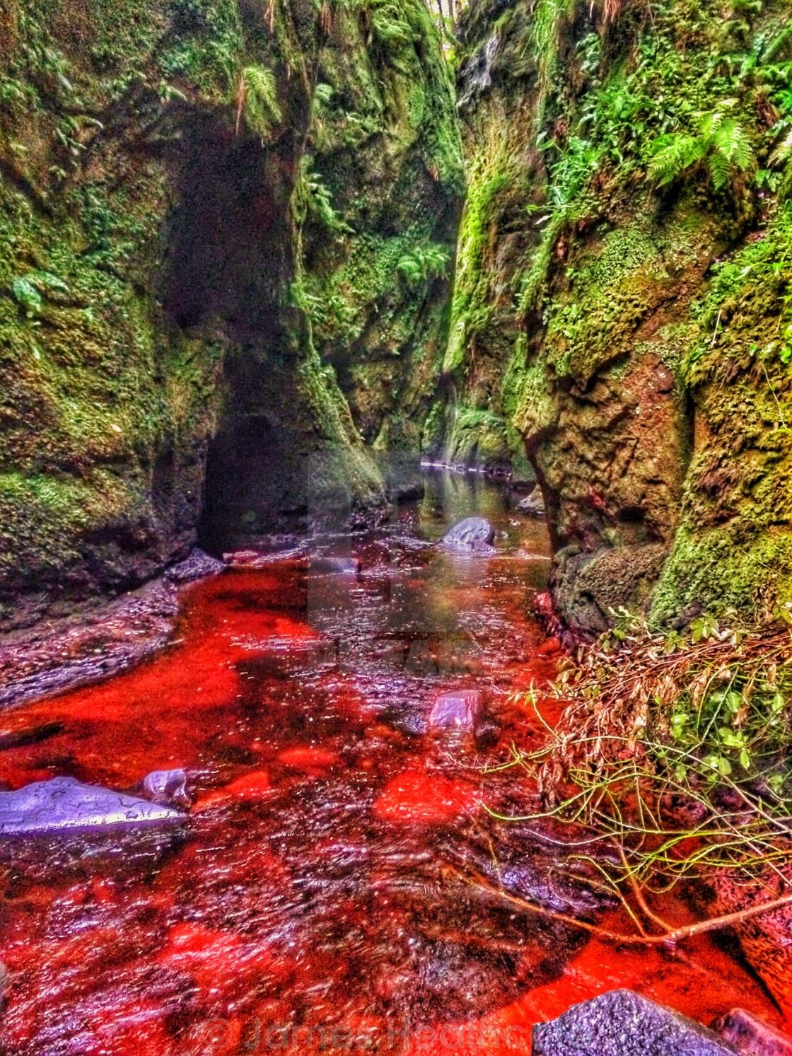 """Devils Pulpit"" stock image"