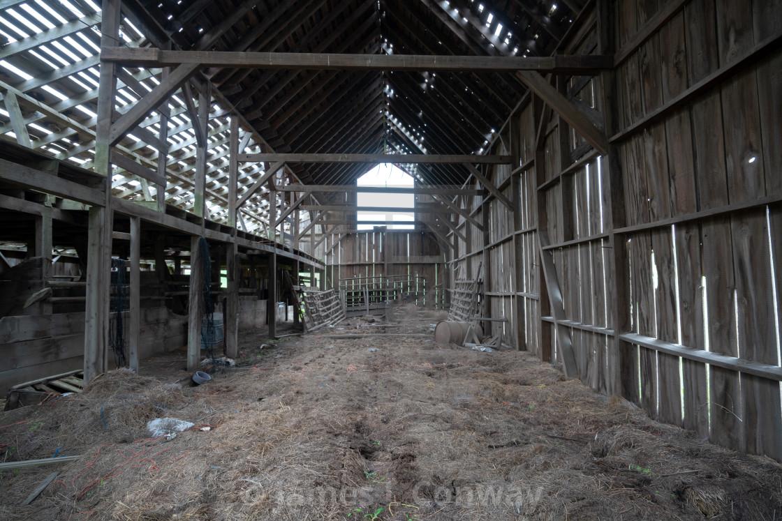 """""""Empty abandoned barn"""" stock image"""